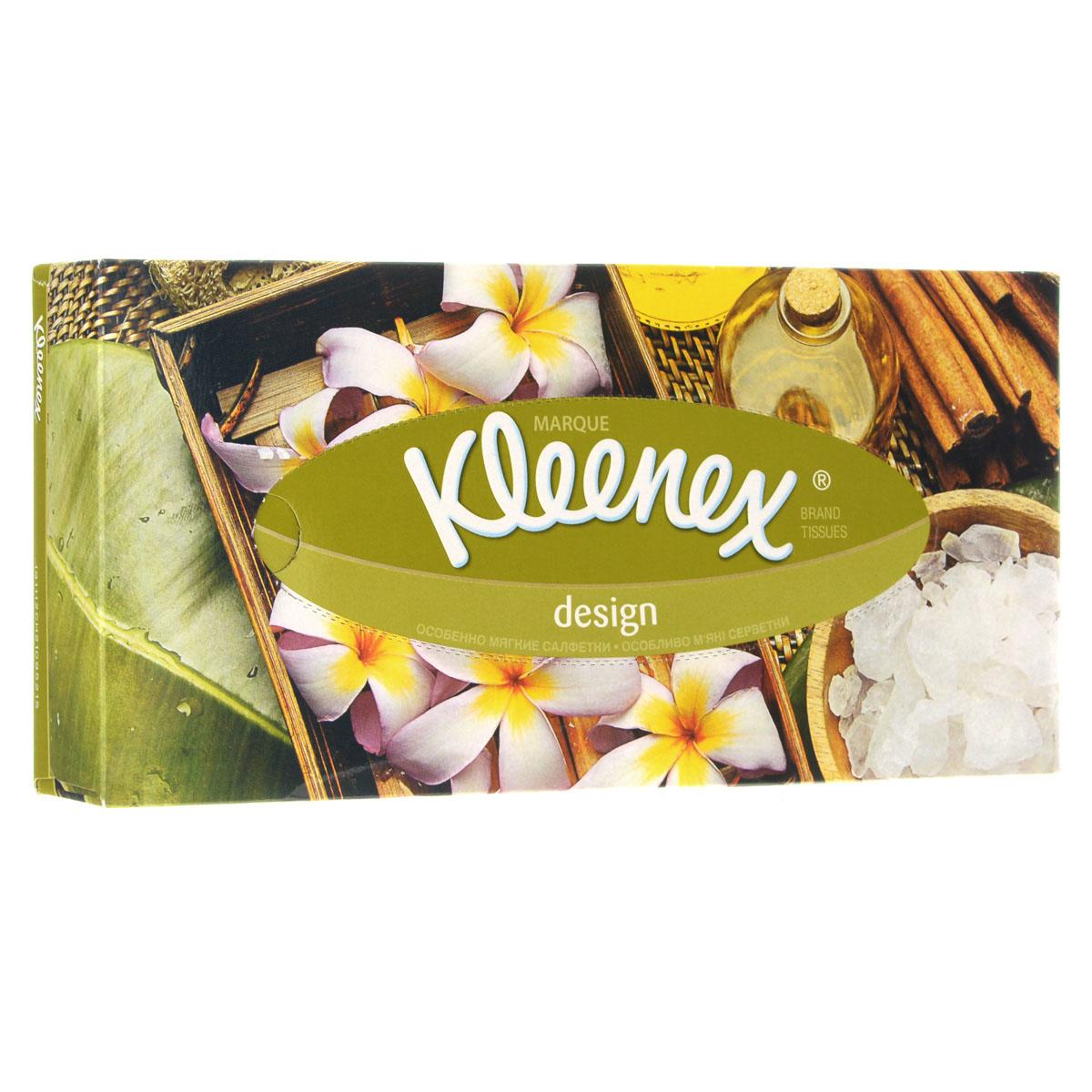 Салфетки универсальные Kleenex Design. Нарциссы, двухслойные, 21,6 х 21,6 см, 70 шт260831770
