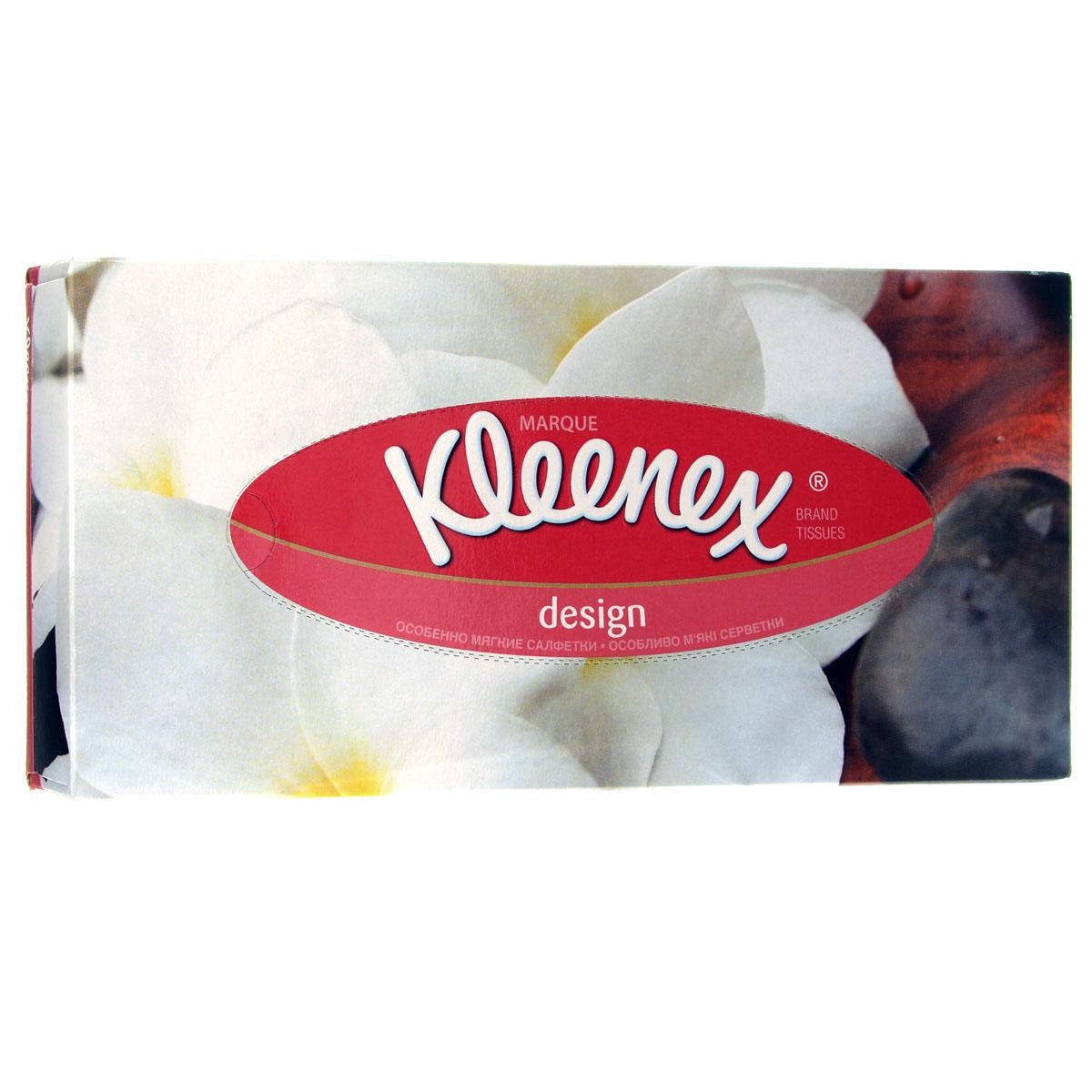 Салфетки универсальные Kleenex Design, двухслойные, 21,6 см х 21,6 см, 70 шт салфетки целлюлозные celesta универсальные 15 х 18 см 3 шт