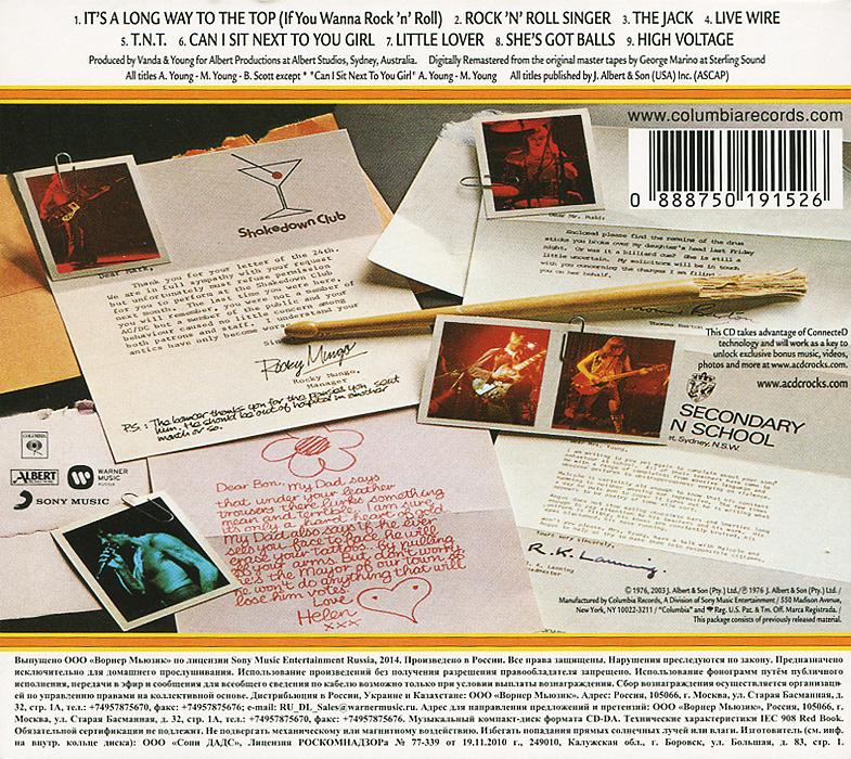 AC/DC.  High Voltage Warner Music