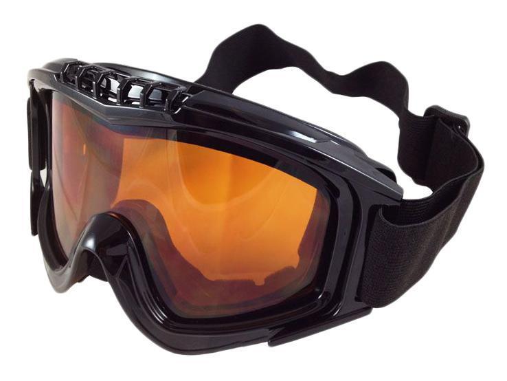 Очки горнолыжные Sky Monkey/Vcan, цвет: черный. VSE25_SR21 ORVSE25_SR21 ORСпортивные горнолыжные очки «Vcan» надежно защитят ваши глаза во время катания на лыжах или сноуборде.Двойные линзы выполнены из противоударного поликарбоната для лучшей защиты глаз. Отличительная особенность поликарбоната - самая высокая устойчивость к ударным нагрузкам. Очки с поликарбонатными линзами наиболее травмобезопасны. Оранжевые тонированные линзы обеспечивают 100% защиту от ультрафиолетовых лучей (UV400). Противотуманное покрытие на внутренней стороне линз предотвращает запотевание оптики.ХарактеристикиМатериал: поликарбонат, пластик. Размеры упаковки: 19,5х9,5х10,5 см.