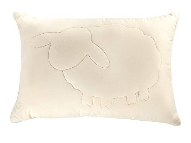 Подушка Лэмби, цвет: бежевый, 50 х 72 см подушка подушкино овечья наполнитель шерсть вискоза цвет бежевый 50 см х 72 см