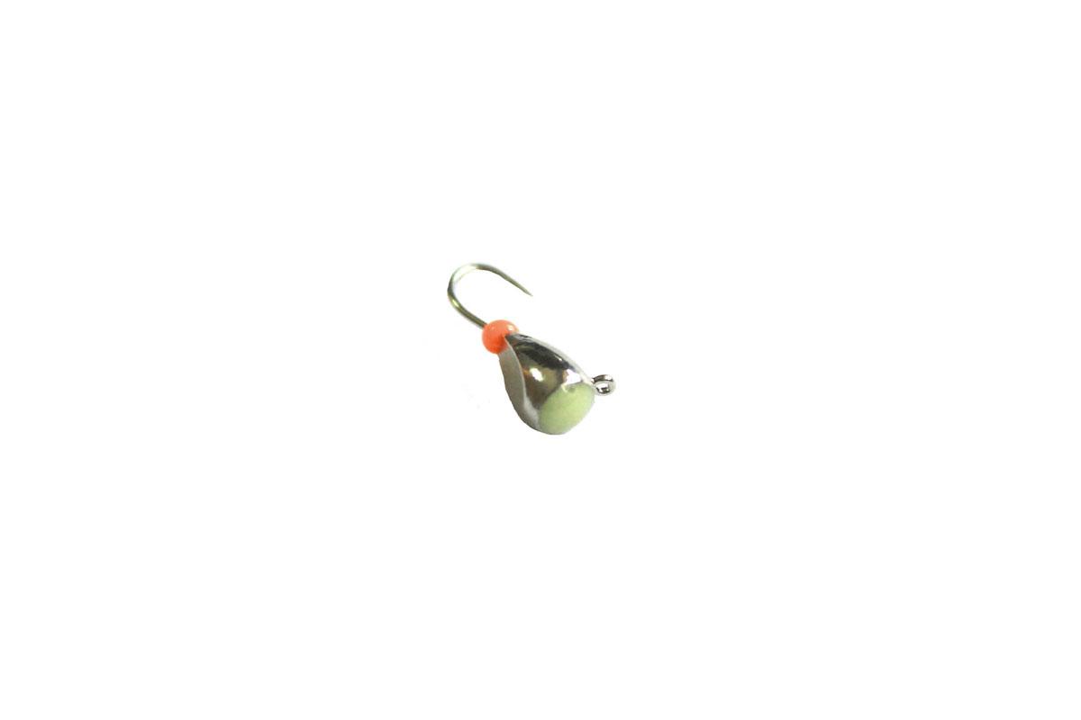Мормышка вольфрамовая Dixon-Rus, капля с ушком и фосфором, диаметр 4 мм, цвет: черный никель, 10 шт