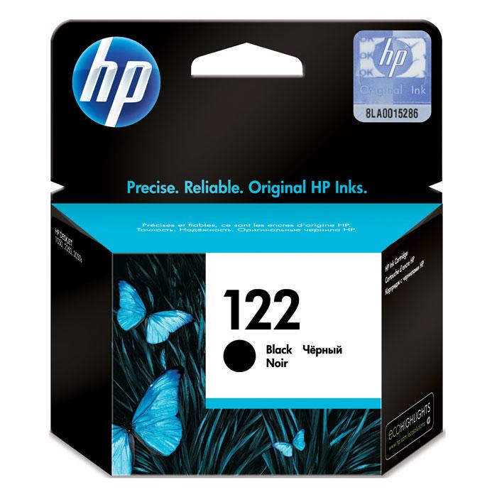 HP CH561HE (122), Black картридж для струйного принтераCH561HEКартридж HP 122 с черными чернилами для печати черно-белых текстов. Печатайте текстовые документы на уровне лазерных устройств и четкие изображения, устойчивые к выцветанию в течение многих десятилетий с картриджами HP.Доверьтесь надежной работе оригинальных картриджей HP. Каждый оригинальный картридж НР является принципиально новым и гарантирует великолепное качество печати.Доступная и надежная печать каждый день Наилучшее качество с оригинальными чернилами HP