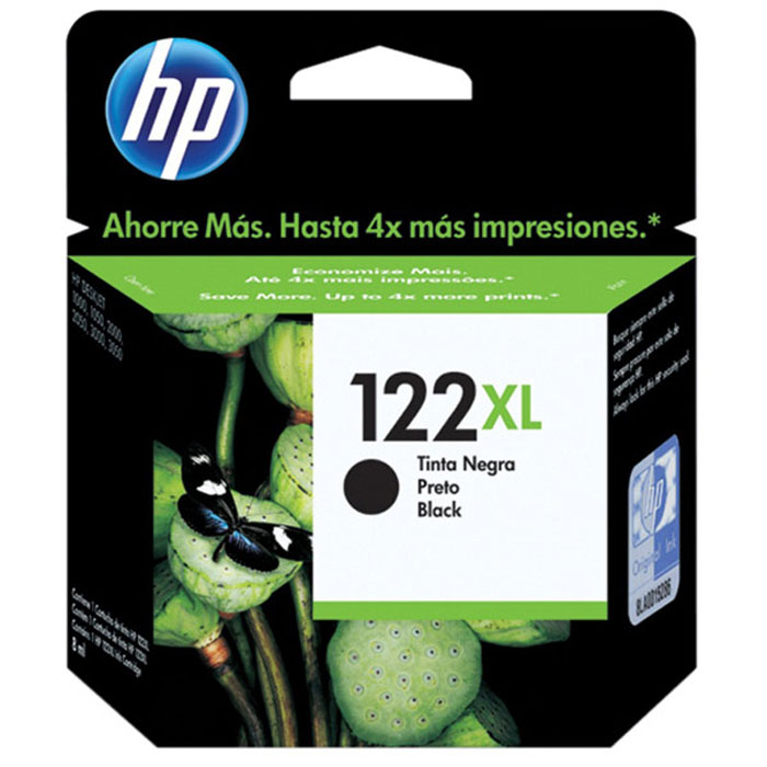 HP CH563HE (122XL),Black картридж для струйного принтераCH563HEКартридж повышенной емкости HP 122XL с черными чернилами для печати черно-белых текстов на уровне лазерных устройств.