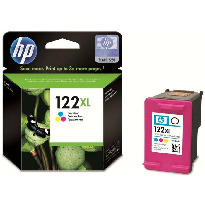HP CH564HE (122XL),Ttri-color картридж для струйного принтера цена