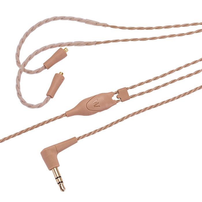 Westone ES/UM Pro Cable, Beige cменный витой кабель (78562)15117578Сменный витой кабель с арамидными волокнами для наушников Westone серий UM Pro / ES / AC / W.