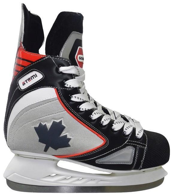 Коньки хоккейные Atemi Goal H-331 2013, цвет: серый,черный,красный.Размер 32