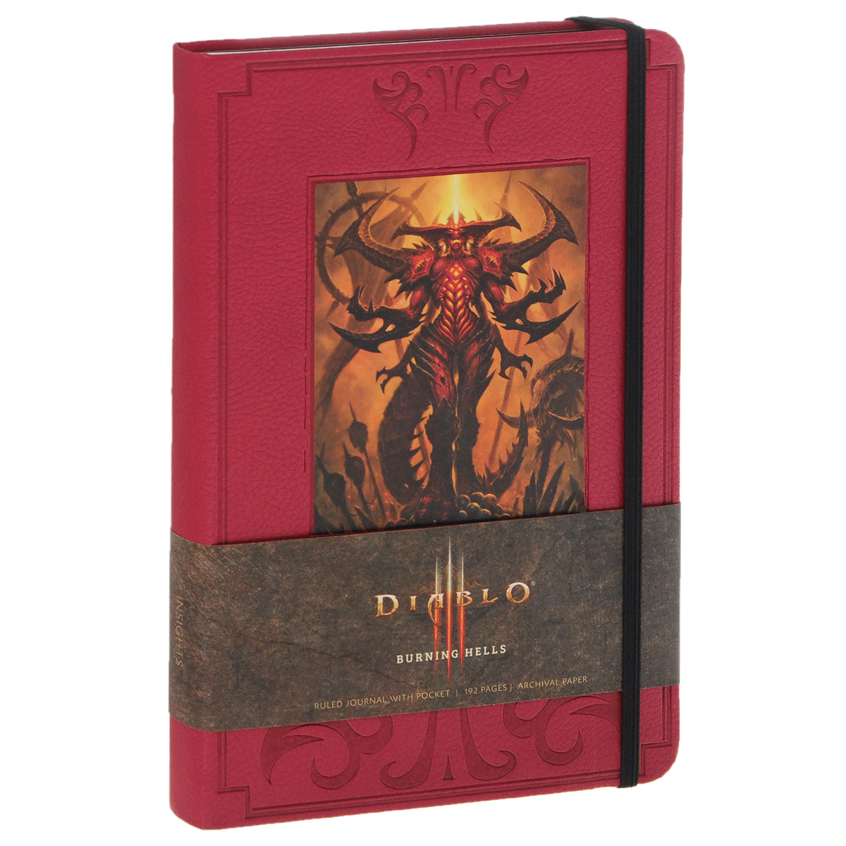 Diablo Burning Hells: Hardcover Ruled Journal hard cover creative cartoon stationery notebook ruled lined bullet journal bujo
