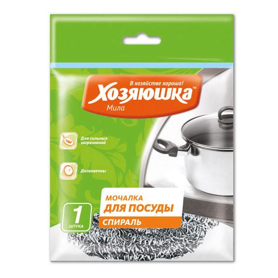 Губка спиральная Хозяюшка Мила для посуды02010