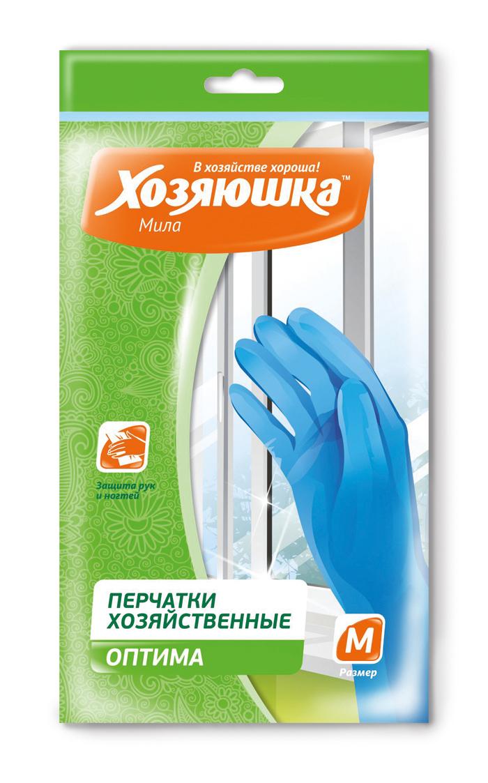 Перчатки хозяйственные Хозяюшка Мила Оптима, 3 пары. Размер M17023Перчатки из уникального материала нитрила предназначены для мытья посуды, чистки овощей, разделки мяса и рыбы, стирки белья, работы в парикмахерских, для хозяйственных работ в саду, в лабораториях при работе с легкими химическими веществами. Обеспечивают эффективную защиту нежной кожи рук.