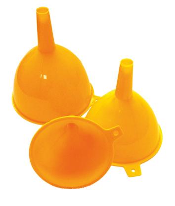 Набор воронок Хозяюшка Мила, цвет: оранжевый, 3 шт набор губок хозяюшка мила супер комфорт для мытья посуды 2 шт