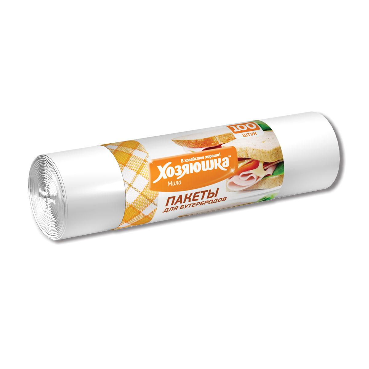 Пакеты для бутербродов Хозяюшка Мила, 17 х 28 см, 100 шт09013Пакеты для бутербродов Хозяюшка Мила являются предметами первой необходимости. В школу, на работу или в поездку брать с собой бутерброды будет гораздо удобнее в пакетах, которые позволят надежно сохранить свежесть продуктов. Фасовочные пакеты - это самый распространенный, удобный и практичный вид современной упаковки, предназначенный для хранения и транспортировки практически всех видов пищевых и непродовольственных товаров.Размер: 17 см х 28 см.