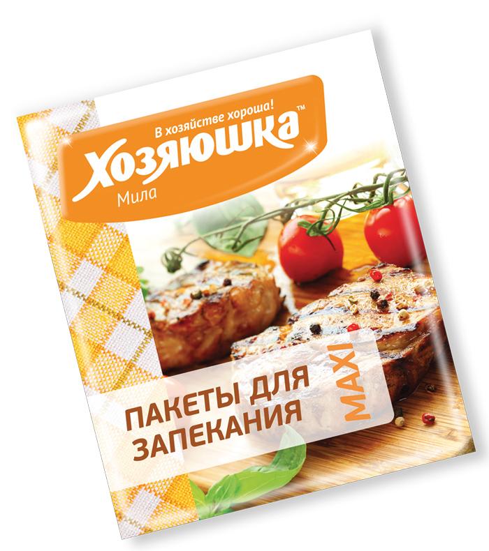 Пакет для запекания Хозяюшка Мила MAXI, 45 см х 55 см, 3 шт09028Набор Хозяюшка Мила MAXI состоит из 3 пакетов для запекания. Изделия изготовлены из политерефталата и используются для приготовления вкусных, а главное полезных блюд из мяса, рыбы, овощей. Пакеты подходят для приготовления в СВЧ-печах и духовых шкафах любого типа. Продукты можно запекать без использования масла и жира. Пакеты оснащены специальными клипсами для закрывания. Материал: политерефталат. Размер пакета: 45 см х 55 см.
