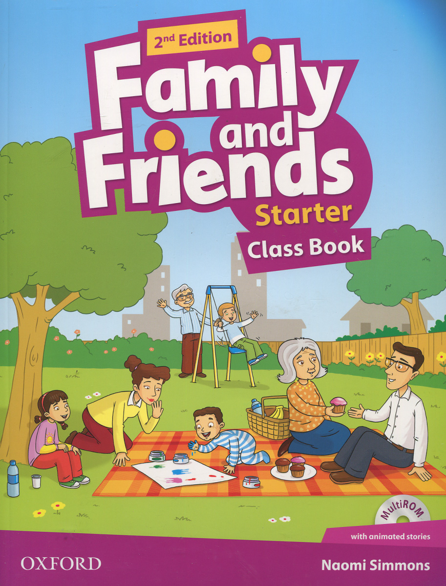Family and Friends: Starter: Class Book (+ CD-ROM ) blue fins starter level cd rom