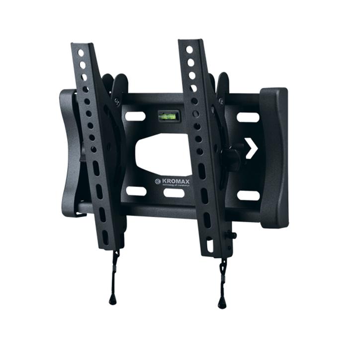 Kromax Star-6 New, Grey наклонный кронштейн для ТВ150673Kromax Star-6 New - наклонный кронштейн для ЖК (LCD) телевизоров и плазменных панелей с регулируемым наклоном и расстоянием от стены - 76 мм. Встроенный водяной уровень. С помощью технологии TechLock, Вы легко сможете снять ТВ с кронштейна вместе с направляющими. Максимальные посадочные отверстия по горизонтали - 230 мм, по вертикали - 240 мм.