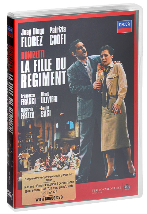 Donizetti, Juan Diego Florez, Patrizia Ciofi: La Fille Du Regiment (2 DVD) la fille du capitaine