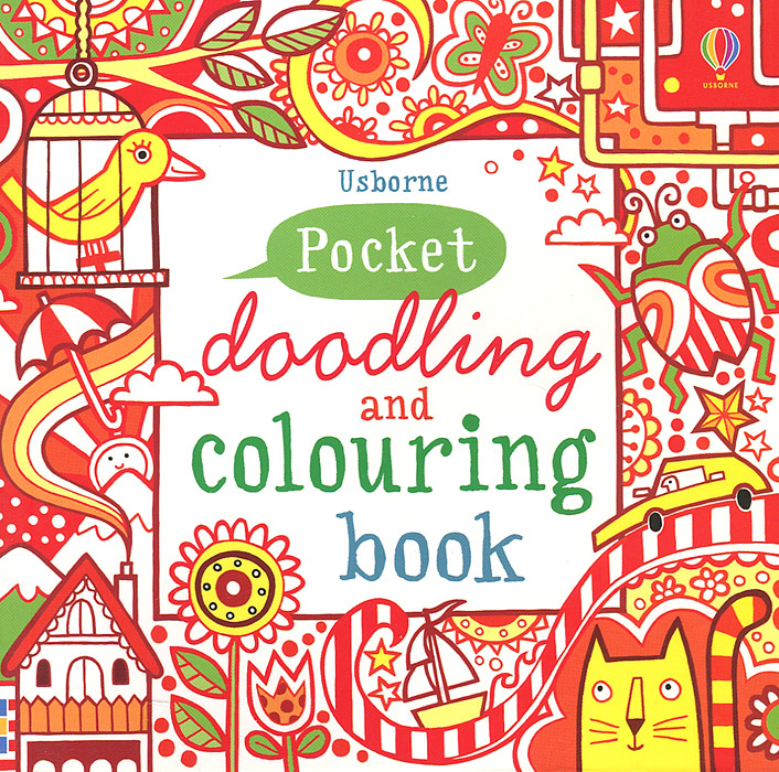 Pocket Doodling and Colouring Book: Red Book santa first colouring book with stickers