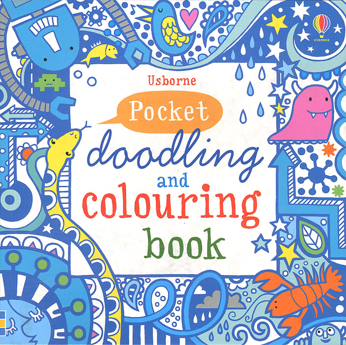 Pocket Doodling and Colouring Book fantasy dream painted series of vines flowers for adult children antistress art drawing painting secret garden colouring book