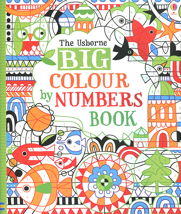 Big Colour by Numbers Book folk art patterns to colour