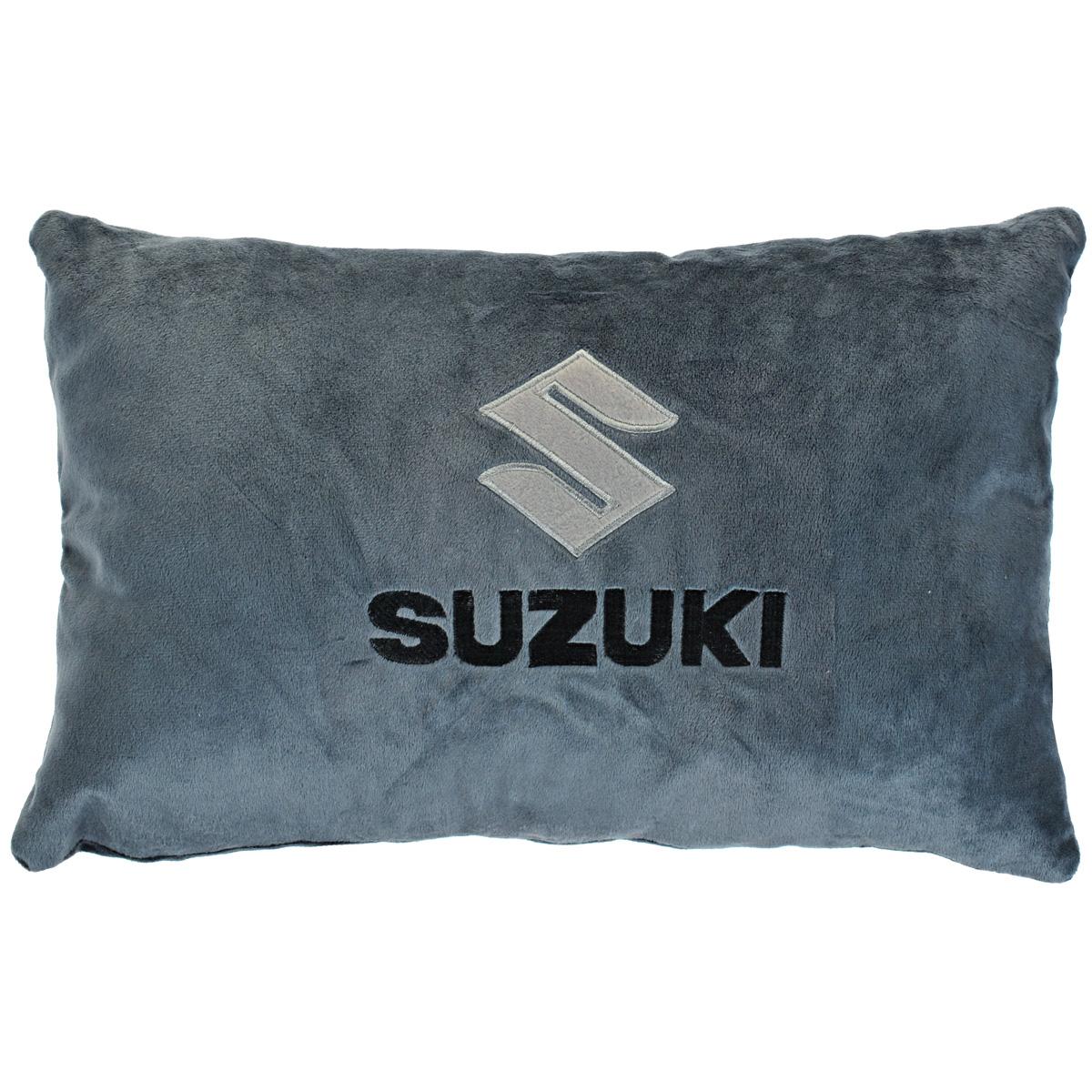 "Подушка автомобильная ""Suzuki"", цвет: серый, 41 см х 25 см х 14 см, Maxi Toys"