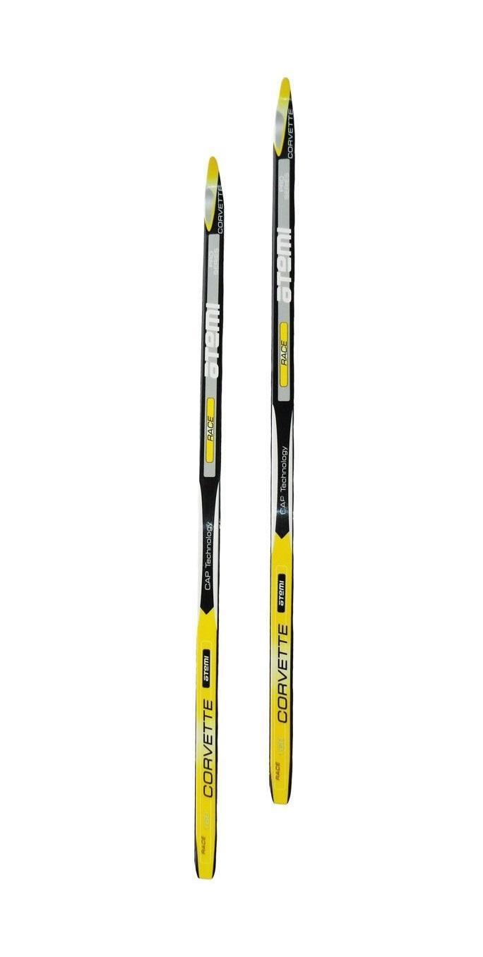Беговые лыжи Atemi Step 2012 , цвет: белый, желтый, рост 185 см лыжи беговые tisa sport step с креплением цвет белый серый черный рост 190 см
