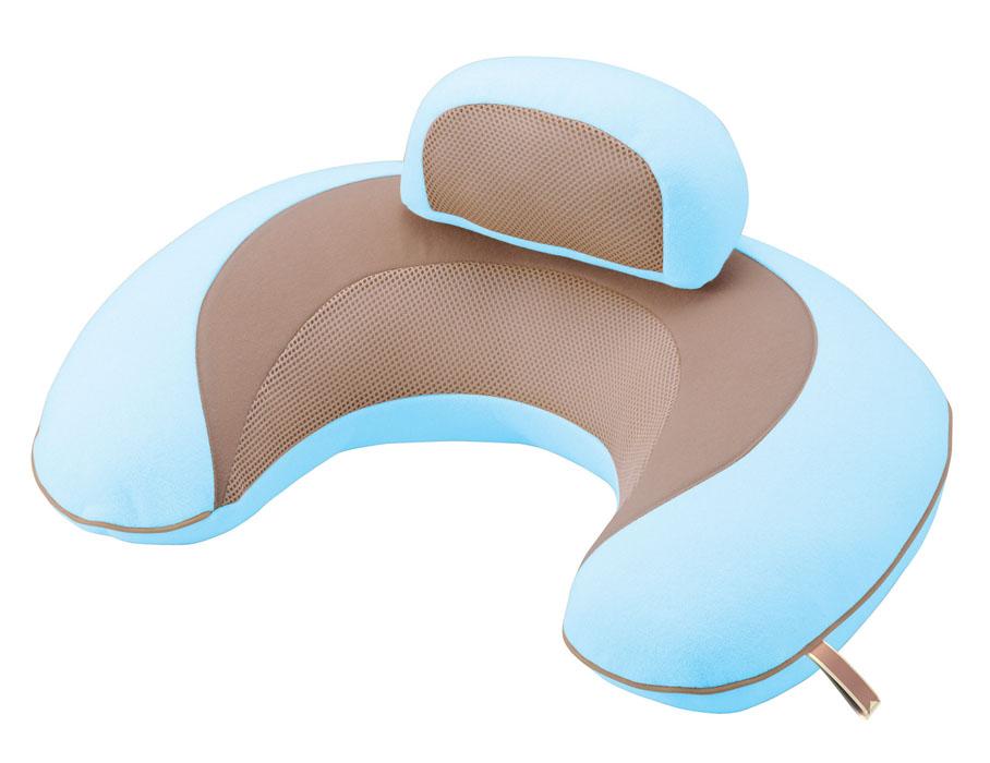 Подушка поддерживающая для детей, беременных и кормящихмам 3way Cushion MacaronBB708Подушка поддерживающая для детей, беременных и кормящихмам 3way Cushion Macaron голубая