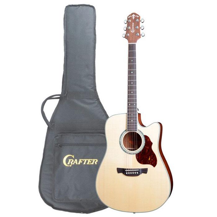 Crafter DE-8/N электро-акустическая гитара + чехол crafter md 40 n bag