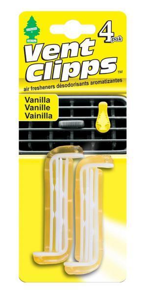 Ароматизатор Car-Freshner Vent Clipps аромат Vanilla (Ваниль)U1P-17705Car-Freshner Vent Clipps устанавливается в дефлектор вентиляции автомобиля. Уникален по эффективности действия, насыщенности и стойкости запаха. В упаковке 4 штуки.