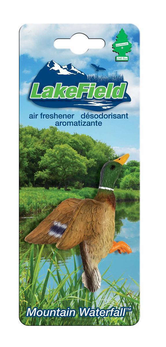 Ароматизатор Car-Freshner LakeField УткаCTK-50922-24Оригинальный ароматизатор Car-Freshner выполнен в виде утки. Он эффективно нейтрализует посторонние запахи и наполняет воздух приятными свежим ароматом. Подвесьте ароматизатор за шнурок в любом удобном месте - в салоне автомобиля, дома или в офисе - и получайте удовольствие!Характеристики: Размер ароматизатора:7 см x 5 см x 5 см.Производитель:США.Изготовитель:Китай.Размер упаковки:19 см х 7,5 см х 5 см.Артикул:CTK-50922-24.