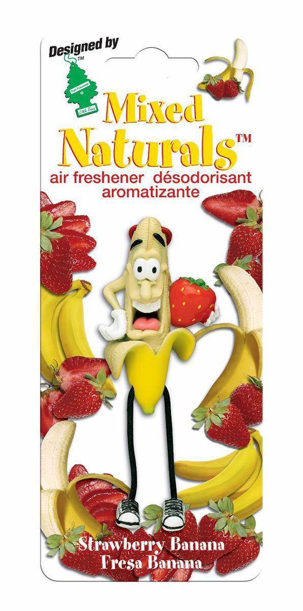 Ароматизатор Car-Freshner Mixed Naturals Клубника с бананомCTK-51802-24Оригинальный ароматизатор Car-Freshner Mixed Naturals, выполненный в виде забавной фигурки, эффективно нейтрализует посторонние запахи и наполняет воздух яркими насыщенными ароматами.Подвесьте ароматизатор за шнурок в любом удобном месте - в салоне автомобиля, дома или в офисе - и получайте удовольствие!Характеристики: Размер ароматизатора:8 см x 4 см x 4 смИзготовитель:КитайАртикул:CTK-51802