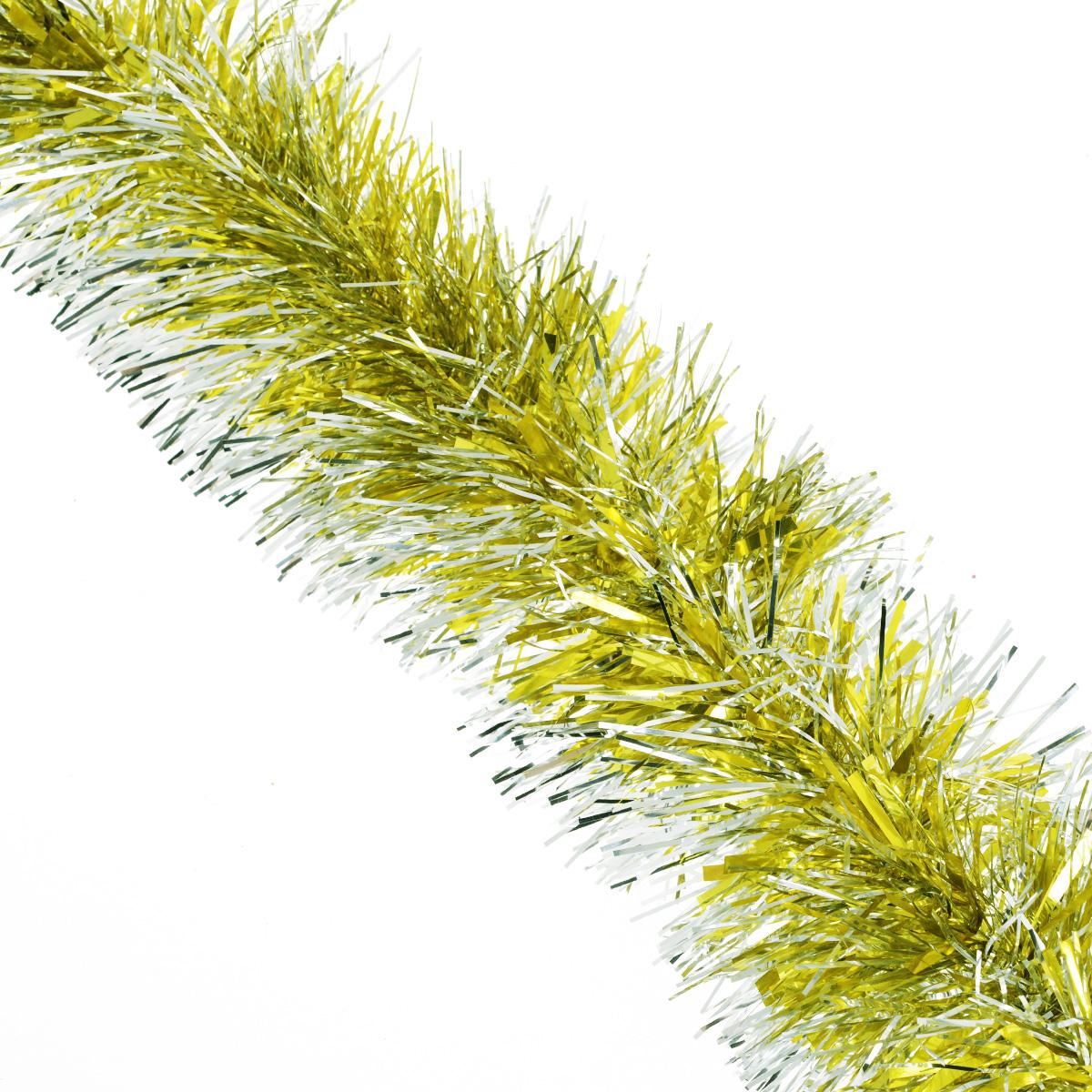Мишура новогодняя Sima-land, цвет: золотистый, серебристый, диаметр 10 см, длина 160 см. 623233623233_золотистый, серебристыйМишура новогодняя Sima-land, выполненная из фольги, поможет вам украситьсвой дом к предстоящим праздникам. Мишура армирована, то есть имеетпроволоку внутри и способна сохранять приданную ейформу. Новогодняя елка с таким украшением станет еще наряднее.Новогодней мишурой можно украсить все, что угодно - елку, квартиру, дачу, офис -как внутри, так и снаружи. Можно сложить новогодние поздравления, буквы ицифры, мишурой можно украсить и дополнить гирлянды, можно выделитьдверные колонны, оплести дверные проемы.