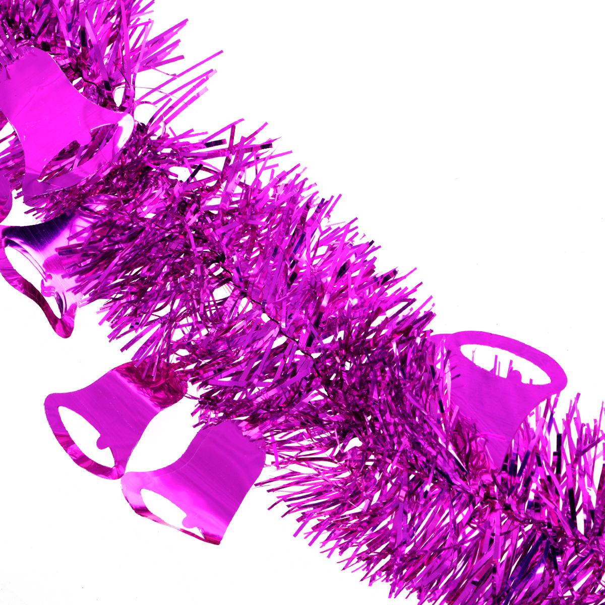 Мишура новогодняя Sima-land, цвет: малиновый, диаметр 8 см, длина 2 м. 702594702594Новогодняя мишура Sima-land, выполненная из фольги с дизайном в виде колокольчиков, поможет вам украсить свой дом к предстоящим праздникам. А новогодняя елка с таким украшением станет еще наряднее. Мишура армирована, то есть имеет проволоку внутри и способна сохранять приданную ей форму. Новогодней мишурой можно украсить все, что угодно - елку, квартиру, дачу, офис - как внутри, так и снаружи. Можно сложить новогодние поздравления, буквы и цифры, мишурой можно украсить и дополнить гирлянды, можно выделить дверные колонны, оплести дверные проемы. Коллекция декоративных украшений из серии Зимнее волшебство принесет в ваш дом ни с чем несравнимое ощущение праздника! Создайте в своем доме атмосферу тепла, веселья и радости, украшая его всей семьей.