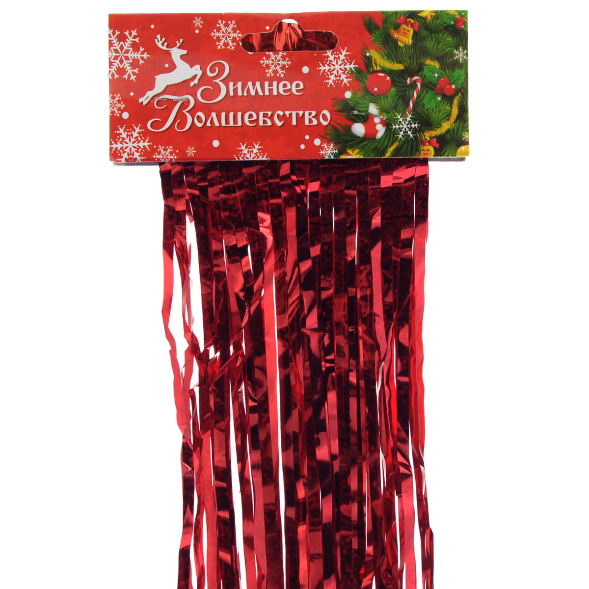 Дождик новогодний Sima-land, цвет: красный, 15 х 100 см. 702534702534Дождик новогодний Sima-land, изготовленный из фольги, поможет вам украсить свой дом к предстоящим праздникам.Новогодняя елка с таким украшением станет еще наряднее. Новогодним дождиком можно украсить все, что угодно - елку, квартиру, дачу, офис - как внутри, так и снаружи. Можно сложить новогодние поздравления, буквы и цифры, дождиком можно украсить и дополнить гирлянды, можно выделить дверные колонны, оплести дверные проемы.