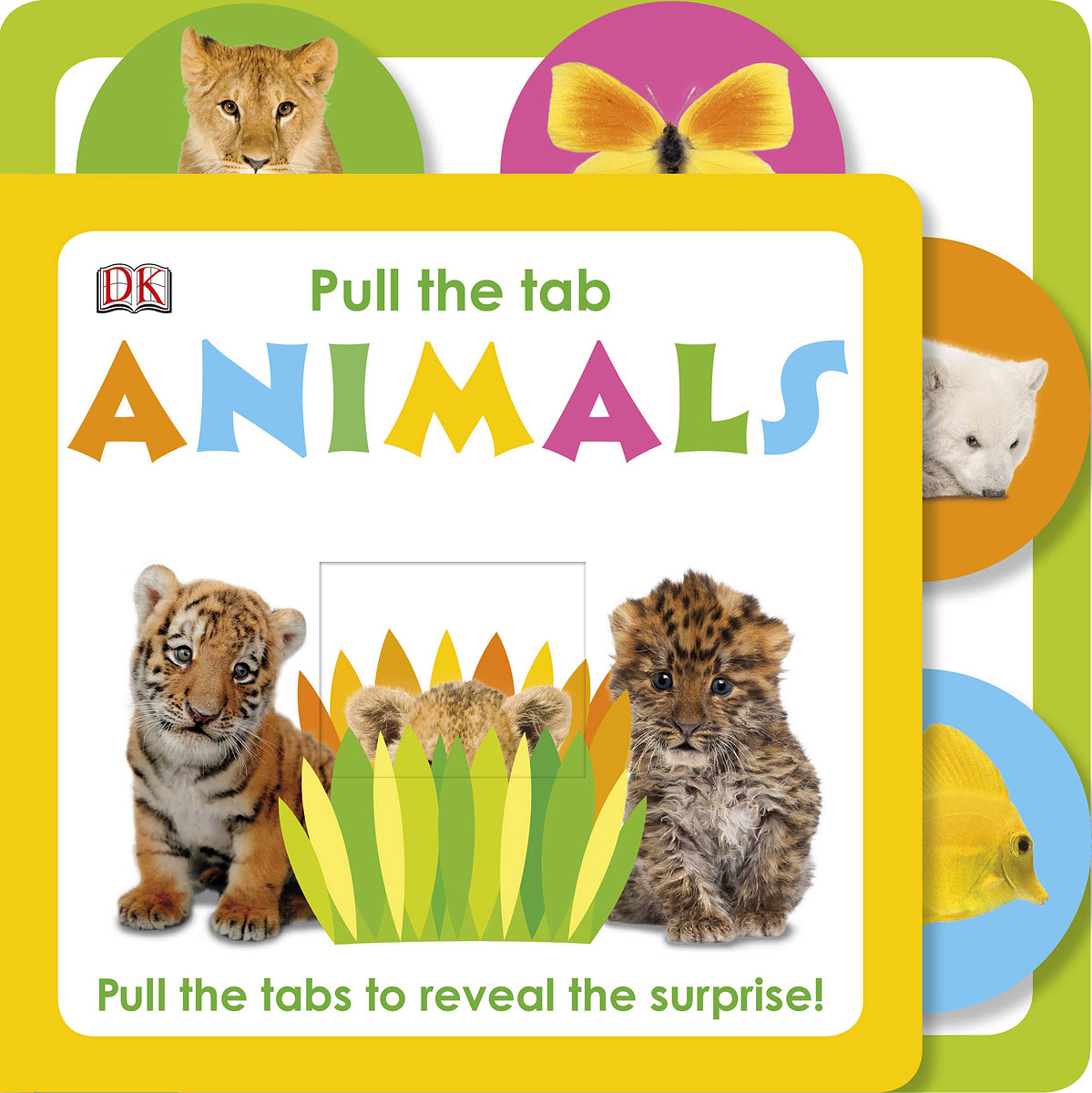 Pull The Tab: Animals fun travel airplane toys for toddlers