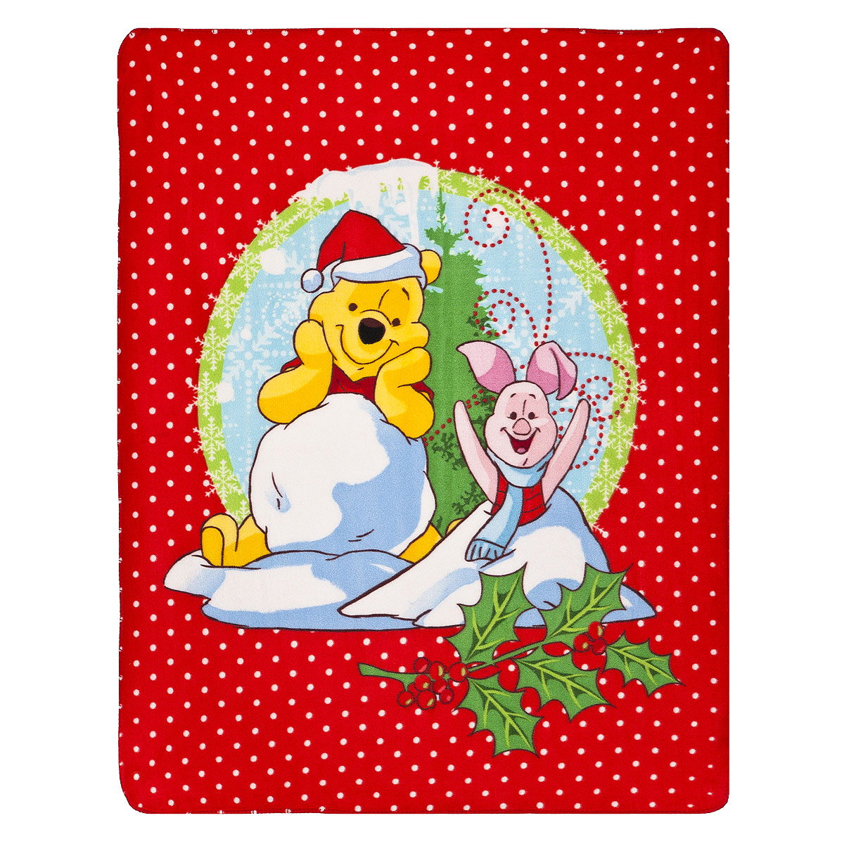 Плед флисовый новогодний Disney Винни и его друзья, 130 см х 160 см65553Мягкий и уютный плед Disney Винни и его друзья, изготовленный из флиса, согреет в прохладные вечера и сделает ваш дом уютным. Плед не скатывается и не вызывает аллергии, легко стирается и быстро сохнет. Изделие оформлено новогодним принтом и красочным изображением Винни Пуха и Пятачка. Плед хорошо впишется в интерьер детской и создаст атмосферу гармонии и уюта. Пледом можно уютно укрыться дома или взять с собой в путешествие.
