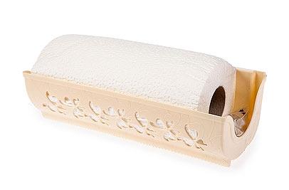 Держатель для бумажных полотенец Berossi Fly, цвет: слоновая костьАС18233000Держатель Berossi Fly, изготовленный из высококачественного пластика, предназначен для бумажных полотенец. Изделие оснащено присосками и шурупами, с помощью которых вы сможете подвесить его в любом удобном месте двумя способами. Подходит для рулонов различных размеров, длинной до 26,5 см. Держатель декорирован резным изображением бабочек. В комплекте - рулон бумажных полотенец.Такой держатель станет полезным аксессуаром в домашнем быту и идеально впишется в интерьер современной кухни.