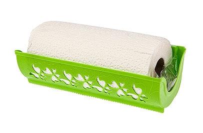 Держатель для бумажных полотенец Berossi Fly, цвет: салатовыйАС18238000Держатель Berossi Fly, изготовленный из высококачественного пластика, предназначен для бумажных полотенец. Изделие оснащено присосками и шурупами, с помощью которых вы сможете подвесить его в любом удобном месте двумя способами. Подходит для рулонов различных размеров, длинной до 26,5 см. Держатель декорирован резным изображением бабочек. В комплекте - рулон бумажных полотенец.Такой держатель станет полезным аксессуаром в домашнем быту и идеально впишется в интерьер современной кухни.