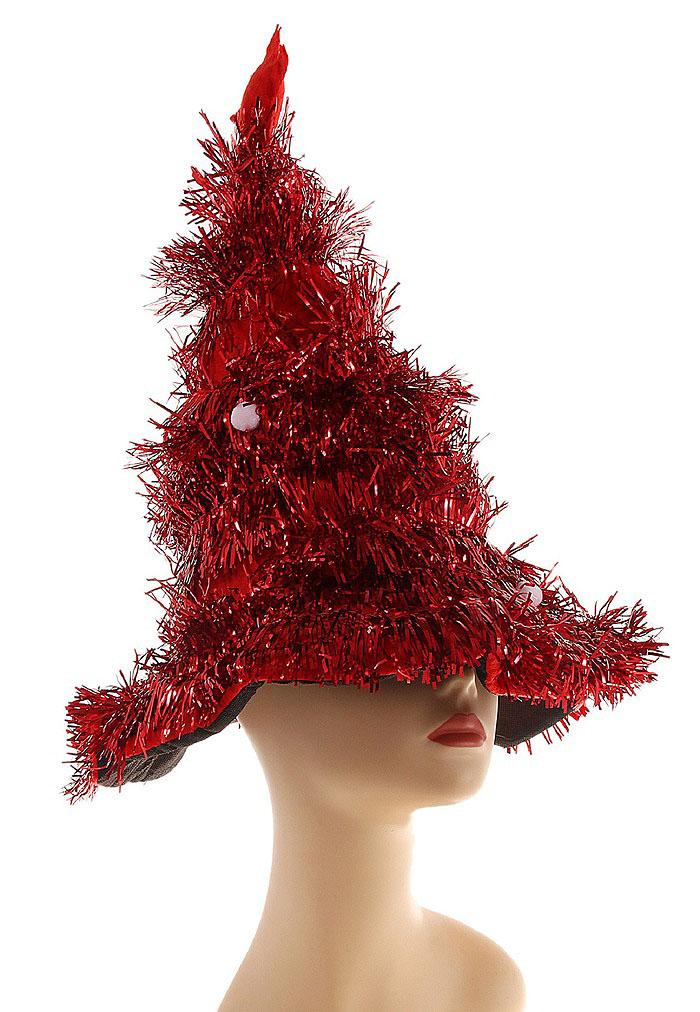 Карнавальная шляпа Sima-land Елочка, цвет: красный, белый. 327160327160Карнавальная шляпа Sima-land Елочка выполнена из текстиля в виде елочки с шарами и звездой на макушке. Шляпа имеет поля и декорирована мишурой. Если у вас намечается веселая вечеринка или маскарад, то такая шляпа легко поможет создать праздничный наряд. Внесите нотку задора и веселья в ваш праздник. Веселое настроение и масса положительных эмоций вам будут обеспечены!