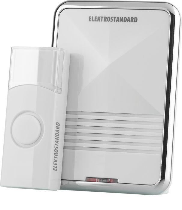 Elektrostandard звонок беспроводной DBQ01Ma026103Данная модель рассчитана на работу от элементов питания типа АА. Это позволяет устанавливать звонок в любом месте квартиры или коттеджа и при необходимости легко перемещать его. Благодаря минимальному энергопотреблению, стандартный комплект элементов питания обеспечит работу звонка до 3 лет при средней частоте срабатывания 5 раз в день. Режимы работы звонка: 1. звуковой + световой сигналы; 2. звуковой сигнал; 3. световой сигнал.Особенности: Количество мелодий: 36 шт; Радиус действия: 100 м; Регулятор громкости; Световая индикация.Комплектация: ресивер, кнопка, батарейка для кнопки (СR2032), инструкция по эксплуатации.