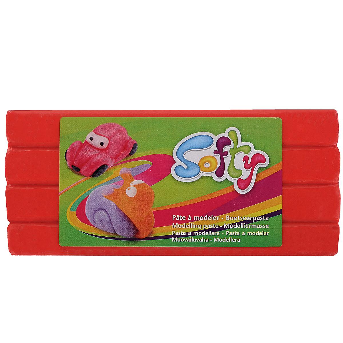 Пластилин Softy, цвет: красный (400), 500 г281037Цветная масса (пластилин) Softy на восковой основе является идеальнымвариантом материала для лепки. Высокая пластичность позволяет изготавливатьочень тонкие детали. Цвета хорошо смешиваются между собой. Пластилин не липнетк рукам, не окрашивает их, не сохнет на воздухе. Благодаря натуральной основе,безопасен при проглатывании. Хорошо развивает мелкую детскую моторику, а такжевосстанавливает подвижность пальцев и кистей рук у взрослых. Предназначен для детей старше 3 лет.