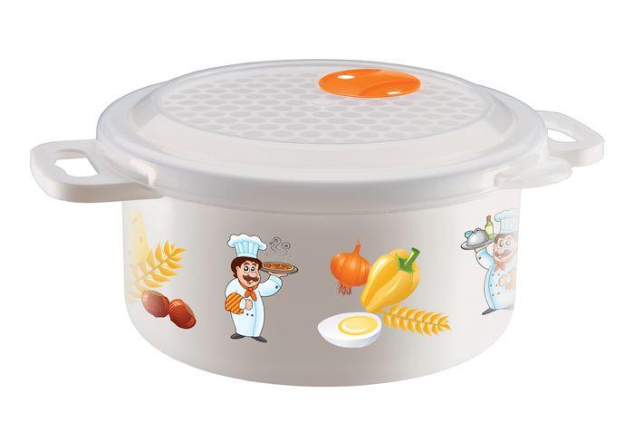 Емкость Бытпласт, для холодильника и микроволновой печи, 900 млС11727Емкость для холодильника и микроволновой печи украшена ярким, красочным изображением, что делает ее нарядной и привлекательной. Изделие сочетает в себе традиционную форму и современный дизайн. В емкости можно разогревать, замораживать, хранить и подавать на стол различные продукты, в том числе супы. Разогревать пищу можно, не снимая крышки при открытом клапане, что предохраняет внутреннюю поверхность микроволновой печи от загрязнения.