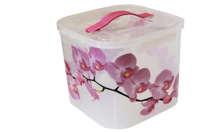 Контейнер для хранения Idea Орхидея, 7 л контейнер для хранения idea океаник цвет голубой 20 л