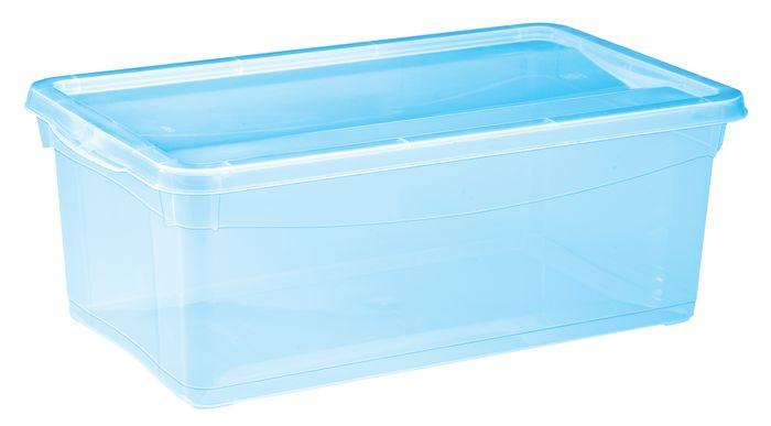 Ящик 5л Колор Стайл универсальный 33х19см, цвет: голубойС12496Ящик 5л Колор Стайл универсальный 33х19см