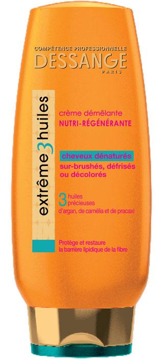Dessange Крем для волос Extreme, 3 масла, экстремальное восстановление, для сильно поврежденных волос, 200 млD1117502Мягкий крем для волос «Extreme 3 масла» глубоко проникает под кутикулу волоса, восстанавливая водно-жировой баланс. 3 натуральных масла питают и укрепляют волосы, а также защищают от различных повреждений.