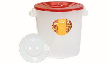 Бак для соления Idea, с гнетом, цвет: прозрачный, красный, 13 лМ 2405Бак для соления Idea предназначен для соления огурцов, капусты, томатов, рыбы, грибов. Укомплектован гнетом и надежно крепящийся крышкой. Прочность и конструкция крышки позволяют ставить баки один на другой.Объем: 13 л.