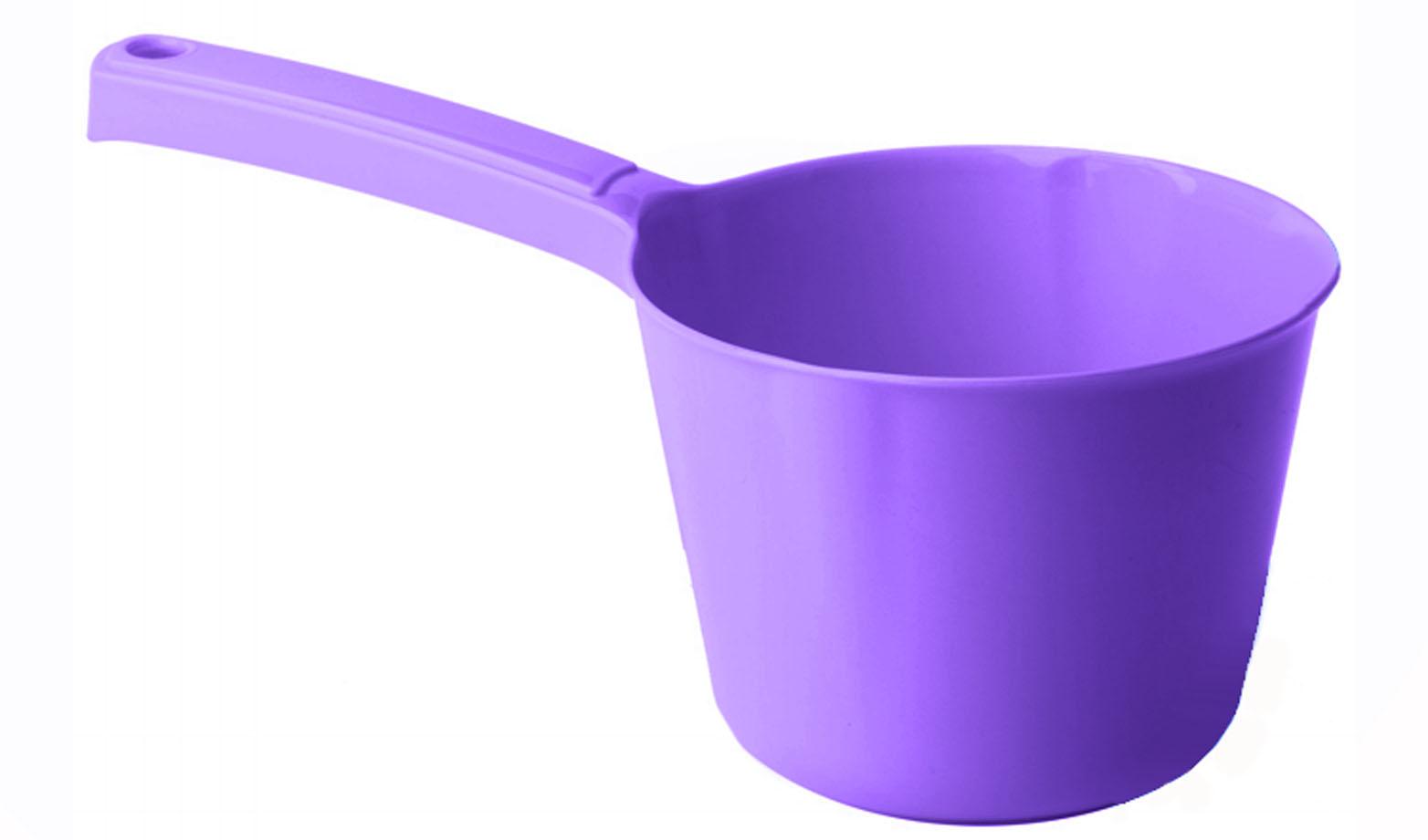 Ковш Idea, цвет: сиреневый, 1 лМ 1215Ковш Idea изготовлен из высококачественного цветного пластика. Изделие используется для моечных и обливных процедур, для черпания и переливания воды и других жидкостей. Ковш оснащен удобной эргономичной ручкой с петелькой для подвешивания на крючок. Диаметр ковша (по верхнему краю): 13,5 см.Высота стенки ковша: 10 см.Длина ручки: 12 см.