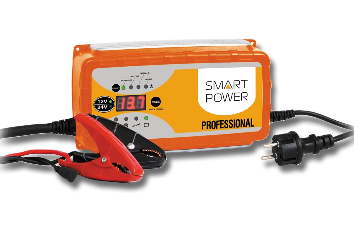 Устройство зарядное для автомобилей Berkut Smart PowerSP-25NЗарядное устройство Berkut Smart Power предназначено для обслуживания и быстрой зарядки всех типов аккумуляторных батарей 12В и 24В, используемых в легковых и грузовых автомобилях, строительной и другой специальной технике.Функциональные особенности:Микропроцессорное электронное управление.Автоматический выбор стадий заряда.Для всех типов 12В и 24В свинцово-кислотных АКБ (в том числе необслуживаемых MF, клапанно-регулируемых VRLA, с пористым сорбентом из стекловолокна AGM, а также WET, GEL, Calcium type).Поэтапная программа быстрого и бережного заряда в 9 стадий.Память последнего режима заряда при отключении питания.4 режима работы устройства на выбор, включая режим восстановления - десульфатацию, а также режим источник питания.Диагностическое табло с выводом информации о состоянии АКБ, величинах зарядного тока и напряжения, а также ошибках.Контрольный датчик температуры заряжаемого АКБ и окружающей среды для корректировки зарядного тока и напряжения.Силовой выход постоянного тока 12В/24В мощностью 300 Вт. Входное напряжение: AC 220-240В, 50-60 Гц. Выходное напряжение: DC 14,4-14,7В или 28,8-29,4В. Максимальный ток заряда: 25 А или 12,5 А. Остаточное напряжение на клеммах заряжаемой АКБ: 2В. Емкость заряжаемой АКБ: 12В 50-500 Ач, 24В 45-250 Ач. Цикл зарядки: 9 стадий, полностью автоматический.