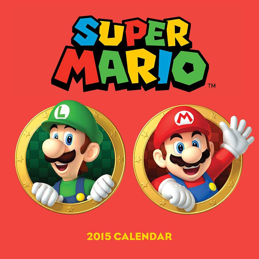 Super Mario 2015 Calendar 6x super mario super size figure collection mario luigi yoshi toad loose toy apl008004a 2017 free shipping