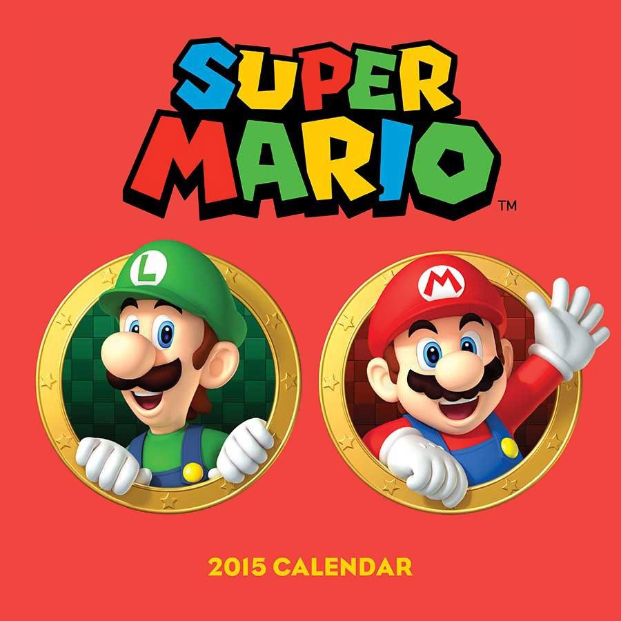 Super Mario 2015 Calendar игровая консоль nintendo switch red super mario odyssey