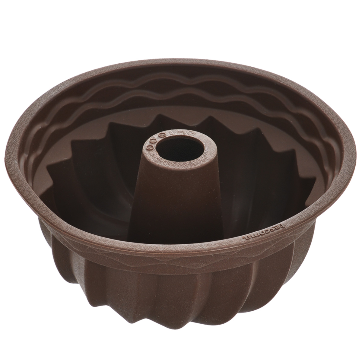 Форма для выпечки кекса Tescoma Delicia Silicone, круглая, цвет: коричневый, диаметр 24 см629224Круглая форма Tescoma Delicia Silicone будет отличным выбором для всех любителей выпечки. Благодаря тому, что форма изготовлена из силикона, готовую выпечку вынимать легко и просто. Стенки формы оснащены рельефной поверхностью. Форма прекрасно подходит для выпечки кексов. С такой формой вы всегда сможете порадовать своих близких оригинальной выпечкой. Материал изделия устойчив к фруктовым кислотам, может быть использован в духовках, микроволновых печах, холодильниках и морозильных камерах (выдерживает температуру от -40°C до 230°C). Антипригарные свойства материала позволяют готовить без использования масла.Можно мыть и сушить в посудомоечной машине. При работе с формой используйте кухонный инструмент из силикона - кисти, лопатки, скребки. Не ставьте форму на электрическую конфорку. Не разрезайте выпечку прямо в форме.